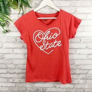 Ohio State • Authentic Apparel Heart Graphic Tee